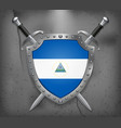 Flag of Nicaragua Medieval Background vector image vector image
