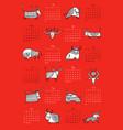 funny bulls calendar design symbol new year vector image vector image