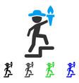 gentleman leader flat icon vector image vector image