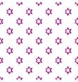 Geometric figure star pattern cartoon style vector image vector image
