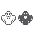 ghost line and glyph icon fear and halloween vector image vector image