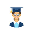 graduate student icon pictogram flat vector image