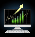 Graph of growth Stock vector image vector image