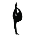 Gymnastics girl silhouette vector image vector image