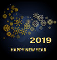 happy new year 2019 text design greeting vector image vector image