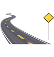 Highway with sign vector | Price: 1 Credit (USD $1)