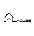 house with key black vector image vector image