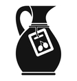 Jug with olive oil icon simple style vector image vector image