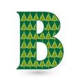 letter b christmas festive font icon vector image