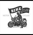 logo motorcycle vintage vector image vector image