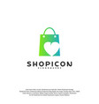 love shop logo template design vector image