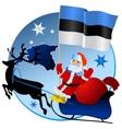 Merry Christmas Estonia vector image vector image