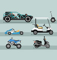 modern auto vehicle isolated set vector image vector image