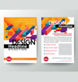 modern yellow brochure cover flyer poster design vector image