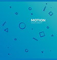 motion graphics design concept element geometric vector image vector image