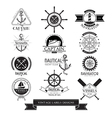 Nautical vessels vintage labels icons and design vector image vector image