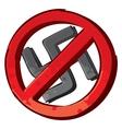 No nazi symbol vector image vector image