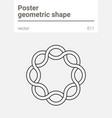 poster minimal geometric shape vector image