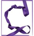 purple ribbon over white background design element vector image vector image