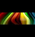 rainbow fluid abstract shapes liquid colors vector image