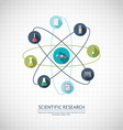 Research concept Chemical banner background cover vector image vector image