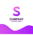 s company logo design with purple theme vector image