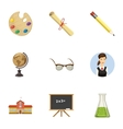 School icons set cartoon style vector image vector image