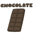 set chocolate vector image vector image
