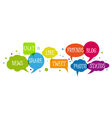 set of social media network vector image vector image