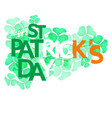 shamrock leaves with greeting word vector image