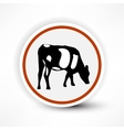 sign of grazing cows in red on a white background vector image