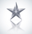 Silver star on white background vector image vector image