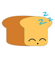 sleeping bread on white background vector image vector image