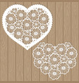 template for laser cutting heart flowers vector image