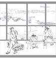 Terrorist In Airport vector image
