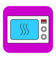 the microwave oven icon vector image vector image