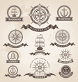 Vintage nautical label set - Retro design elements vector image vector image
