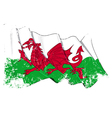 Wales Flag Grunge vector image vector image