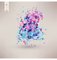 watercolor texture Watercolor spray background vector image