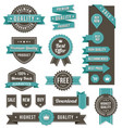 web design banners and elements vector image vector image
