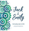 wedding invitation floral invite card design vector image vector image