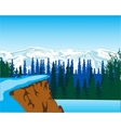 Winter landscape in wood vector image vector image