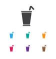 of food symbol on milkshake vector image