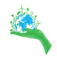 green eco world isolated on white vector image
