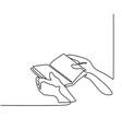 hands holding the bible book vector image