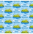 Summer seamless pattern with bright images of vector image