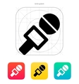 Journalist microphone icon vector image