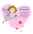 Little Fairy with pink heart vector image