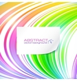 Rainbow abstract lines background with white vector image
