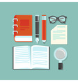 reading and education concept vector image